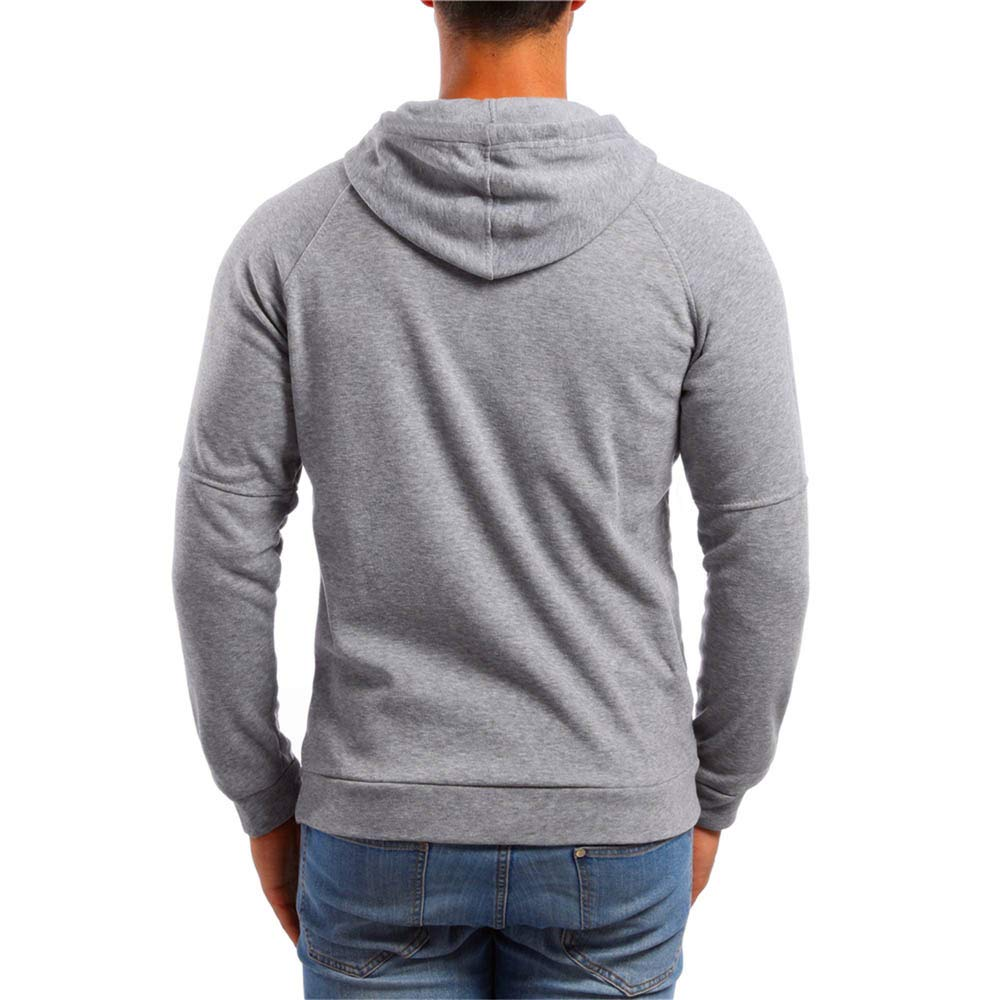 ... Sudadera con Capucha de Bolsillo de Manga Larga para Hombre Top Blusa de Exterior con Estampado de Camiseta: Amazon.es: Ropa y accesorios
