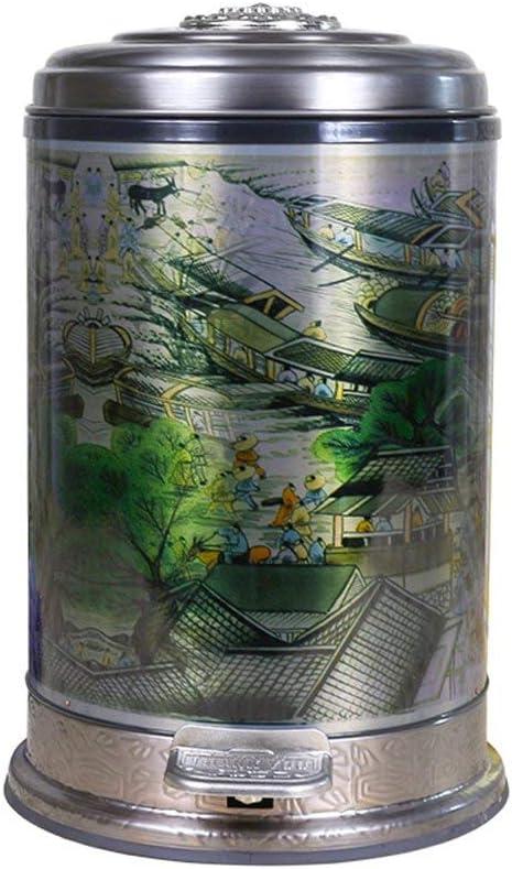 フットペダル式ステンレス鋼製ゴミ箱、家庭用トイレクリエイティブカバーゴミ箱10L
