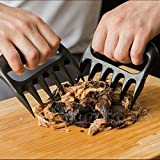 Eallc Bear meat paws claws handler tong fork lift shred pork cooking BBQ grill smoker&US stock (Black)