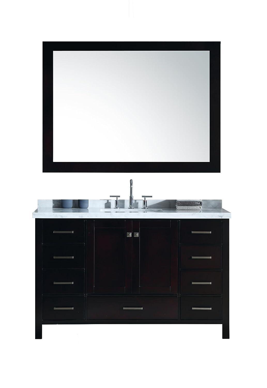 Ariel Cambridge A055s Cwr Esp 55 Inch Single Sink Bathroom Vanity