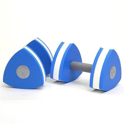 Piscina ejercicio suave recubierto Grips Triangular Aqua Fitness mancuernas par