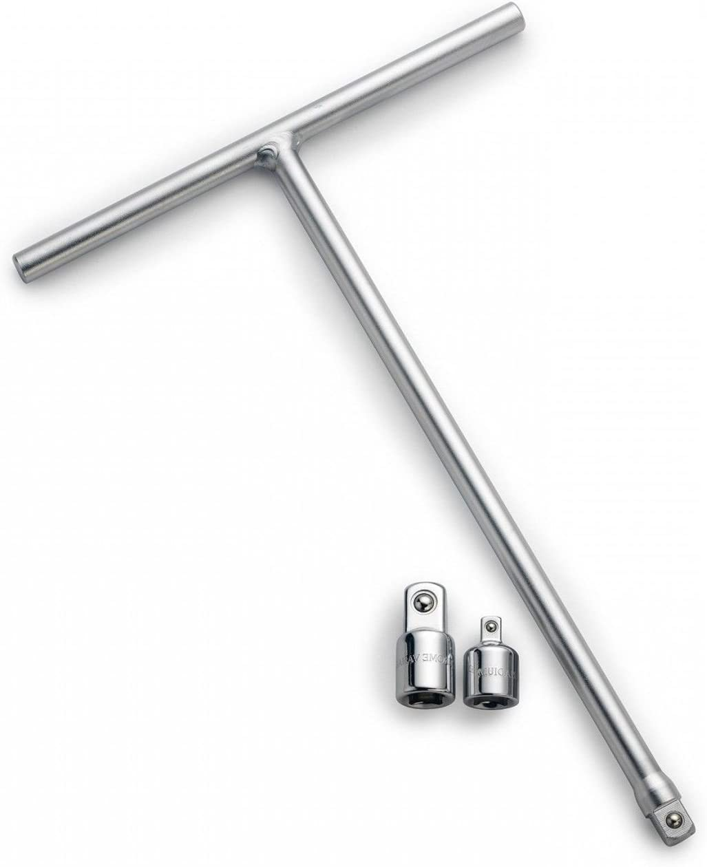 """3//8/"""" T-Handle Long Reach Wrench w// 2 Adapters"""