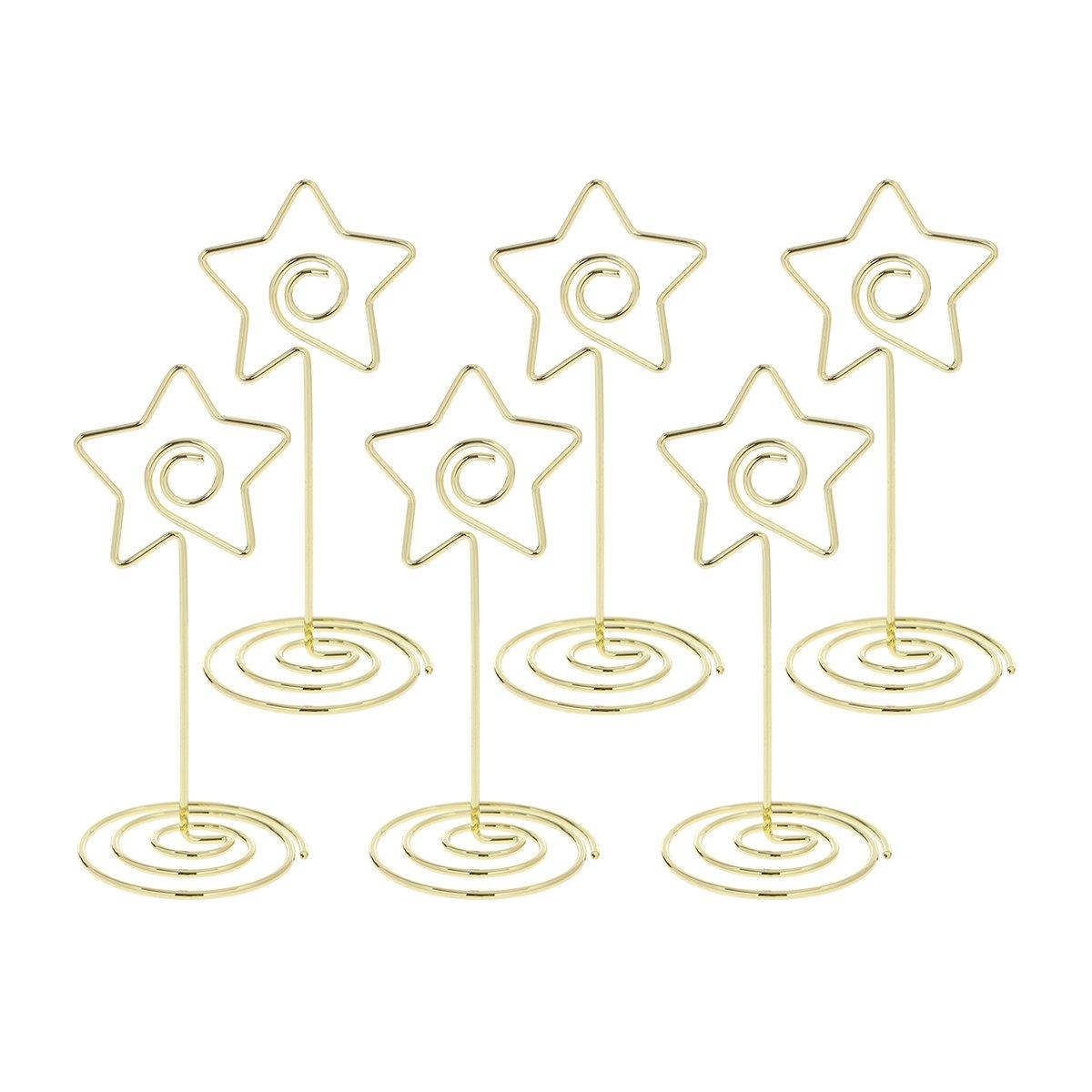 STOBOK Porta Memo clip forma stelle Segnaposto Segnatavolo Matrimonio numeri tabelle decorazioni matrimonio tavoli 10 pezzi