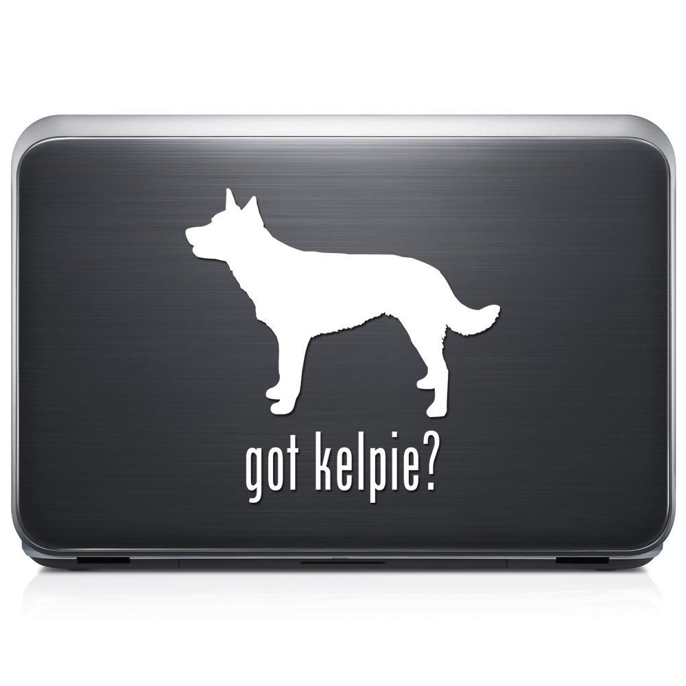 Got Kelpie犬ペット取り外し可能なビニールデカールステッカーforラップトップタブレットWindows壁装飾車トラックオートバイヘルメット (05 in / 13 cm) Tall RSGT191-05MWH (05 in / 13 cm) Tall グロスホワイト B076FBM41R