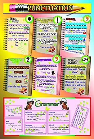 Amazon.com: Laminated English Grammar and Punctuation Kids