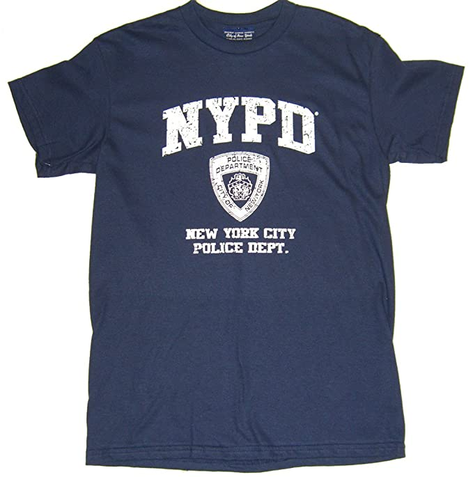 7f09b9f58 NYPD Distressed T-Shirt - Size: Adult Small - Color: Navy