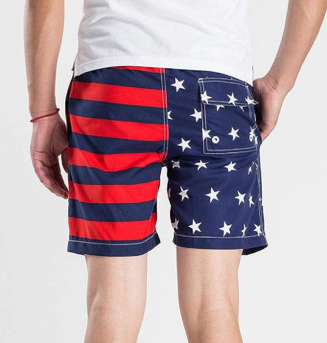 Mens Swim Trunks Summer Beach Shorts Board Shorts Pockets Boardshorts