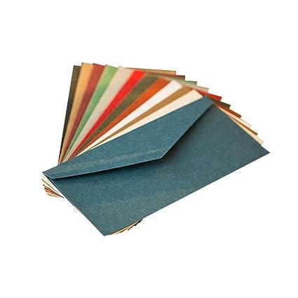 Zhi Jin 30pcs carta sobres tarjeta de visita caso titular tarjeta de felicitación sobre Set de regalo para boda invitaciones de fiesta, color Mixed ...