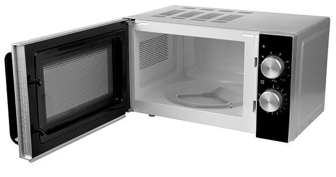 Medion MD 18071 - Microondas con grill, potencia de 800 vatios, capacidad de 20 L, grill de 1000 W, 6 niveles de potencia, función de descongelación, ...
