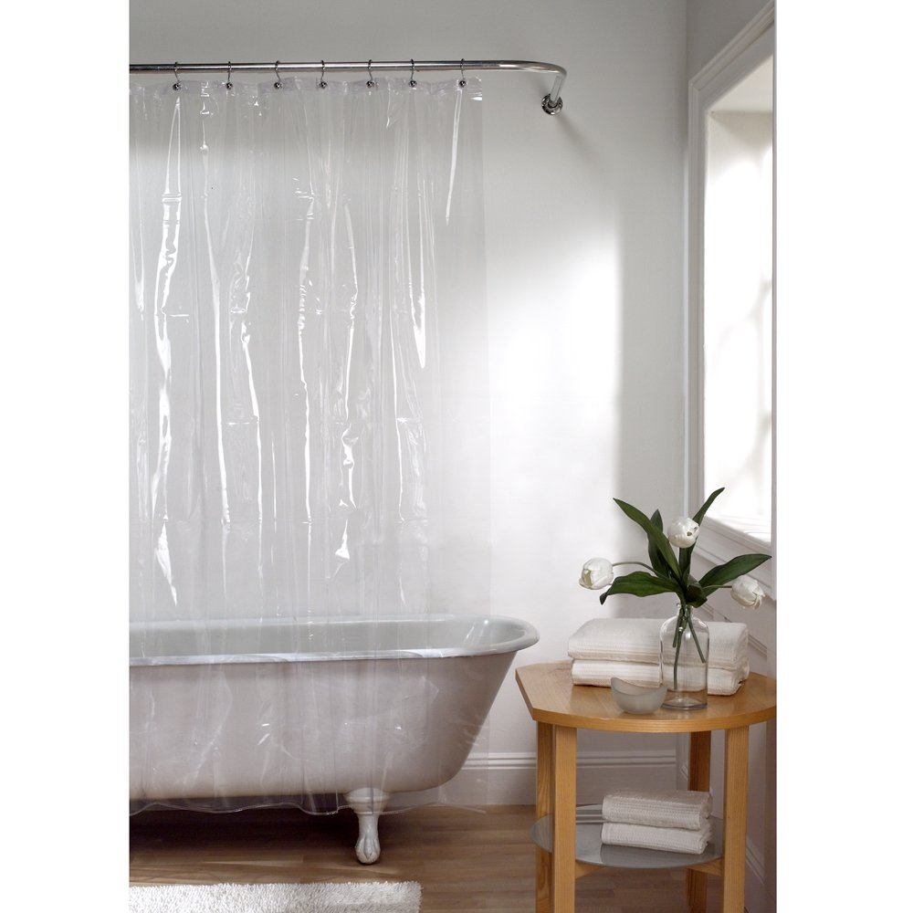 Amazon.com: Maytex No More Mildew 10 Gauge Shower Curtain Liner With  Rustproof Metal Grommets, Clear, 72 X 72: Home U0026 Kitchen