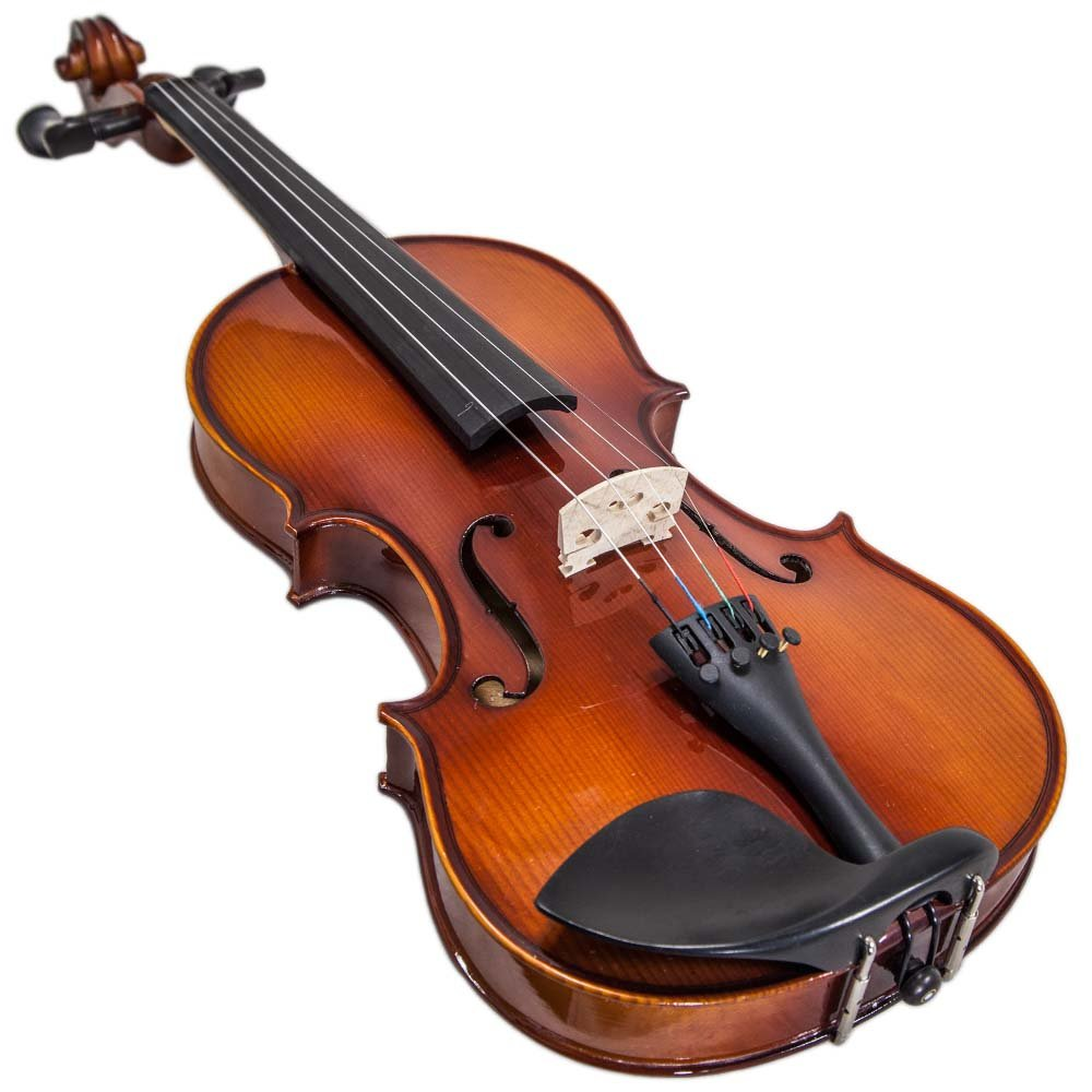 Paititi 14'' Size Upgrade Solid Wood Ebony Fitted Viola With Case Bow, Shoulder Rest and Rosin (14'') by Paititi (Image #3)