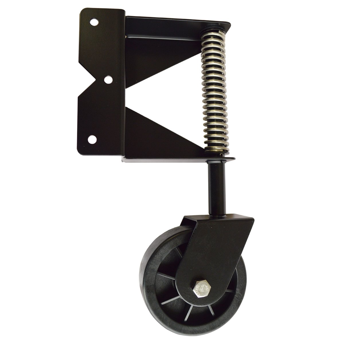 Black Stainless Steel Gate Wheel for Large and Heavy Gates   GW1-SS-BK