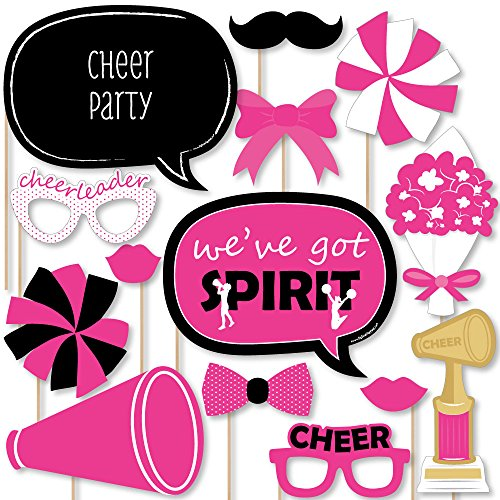 Big Dot of Happiness We've Got Spirit - Cheerleading - Birthday Party or Cheerleader Party Photo Booth Props Kit - 20 Count -