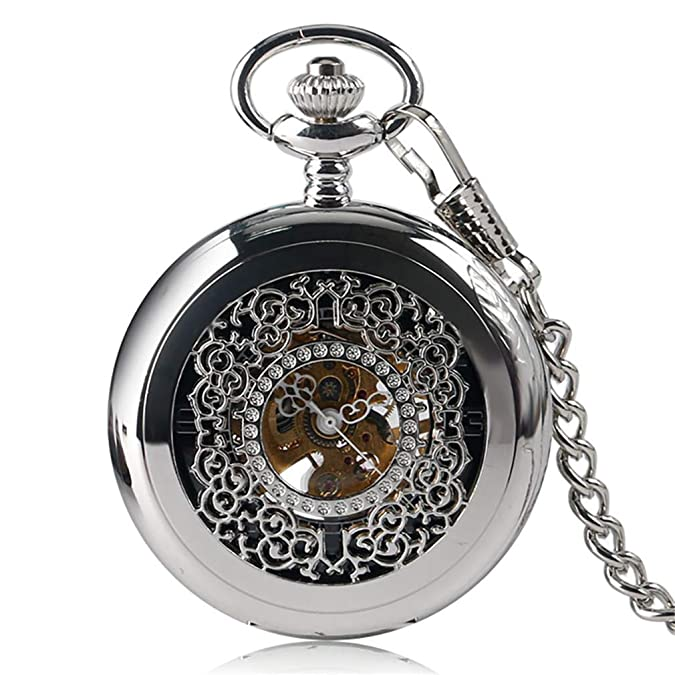 Amazon.com: Vintage Steampunk Roman Number Quartz Pocket Watch Retro Necklace Pendant With Chain For Men Women Reloj De Bolsillo Gifts 1: Jewelry