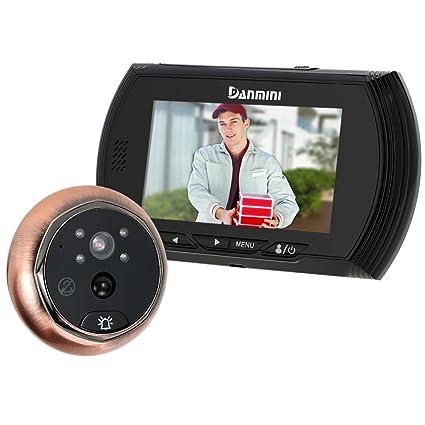 "KKmoon 4.3"" LCD Mirilla Digital Timbre para Puerta PIR Cámara Video Visión Nocturna 3 Modos"