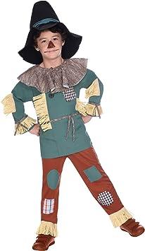amscan Disfraz de Espantapájaros El Mago de Oz para niños Large ...