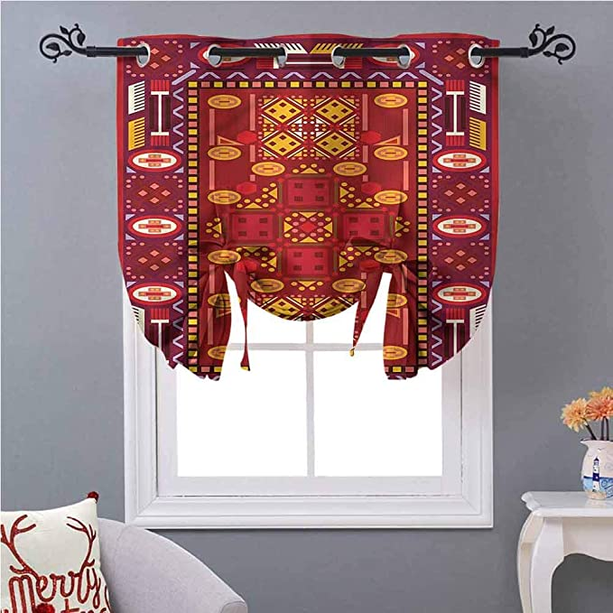 Tie Up Curtains Afghan Middle Design W46 X L45 Curtain Drapery For Home Decoration Home Kitchen