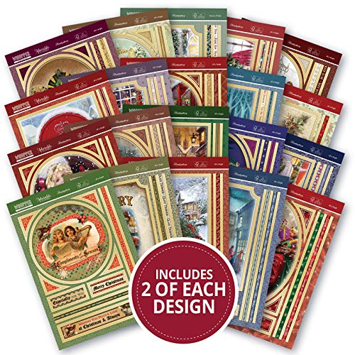 Hunkydory Crafts Whopper Topper Pad All is Bright - 40 Foiled & Die Cut Sheets
