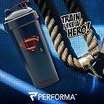 Perfect Shaker Superman Justice League Gym Shaker/Bottle, 800 ml