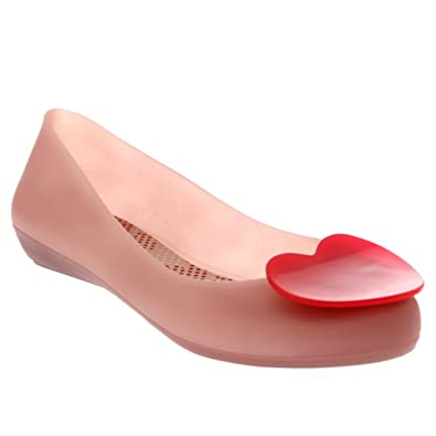 740d65b46e171 Mel Womens By Melissa Pop Heart 2 Flat Slip On Holiday Casual Jelly Shoes  UK 3