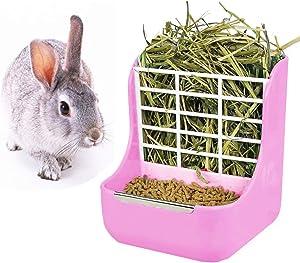 Rabbit Feeder Bunny Guinea Pig Hay Feeder, Hay Guinea Pig Hay Feeder, Chinchilla Plastic Food Bowl
