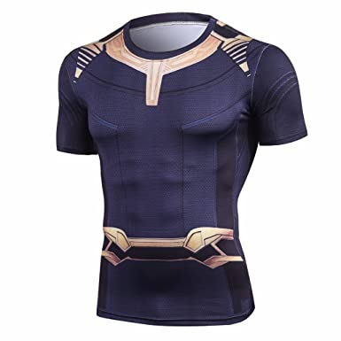 ec7aef11b737d New Infinity Villain Tees Compression Tops  Amazon.co.uk  Clothing