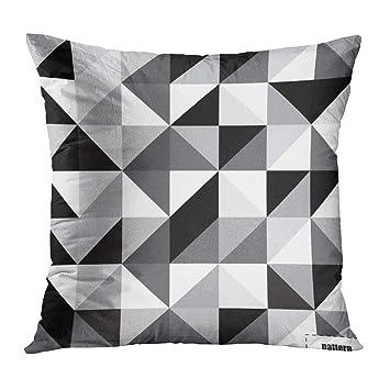 Amazon.com: TOMKEYS Funda de almohada gris geométrico negro ...