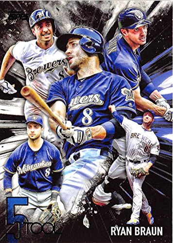 2017 Topps Five Tools #5T-14 Ryan Braun NM-MT Brewers