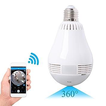 SpyCent Cámara de Seguridad con Sensor de Movimiento en el hogar, Cámara con lámpara de