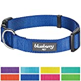 """Blueberry Pet 8 Colors Classic Dog Collar, Royal Blue, Neck 18""""-26"""", Large, Nylon Collars for Dogs"""