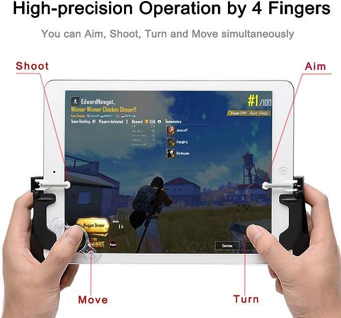 DANDANdianzi 1 Paire Mobile contr/ôleur de Jeu pour PUBG Sensible Tirez Boutons Objectif Trigger Jeu Mobile pour Android Joystick pour iOS