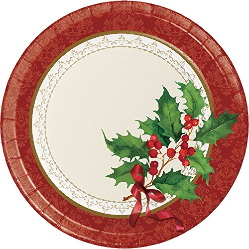 (Creative Converting 8-Count Sturdy Style Dinner/Large Paper Plates, Holiday)