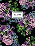 Rhapsody Rose Notebook: Floral Notebook (Composition Book, Journal) (8.5 x 11 Large)