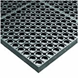 Wearwell Rubber 478 WorkSafe Heavy Duty Anti-Fatigue Mat, for Wet Areas, 3' Width x 5' Length x 1/2'' Thickness, Gray