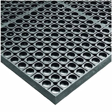 Wearwell Rubber 478 WorkSafe Heavy Duty Anti-Fatigue Mat, for Wet Areas, 3' Width x 5' Length x 1/2
