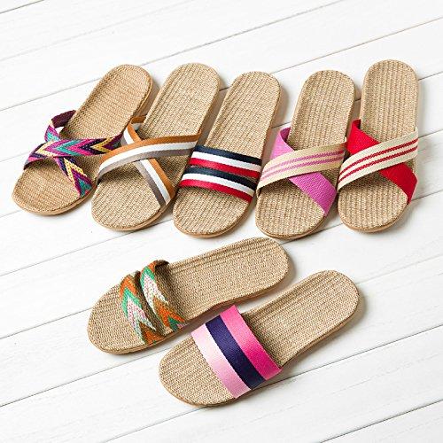 legno Estate pantofole pavimenti 41 giovane maschio biancheria rosa interni Beach in linea 40 donne estate pantofole Home Pantofole doppia qw1H7vxI