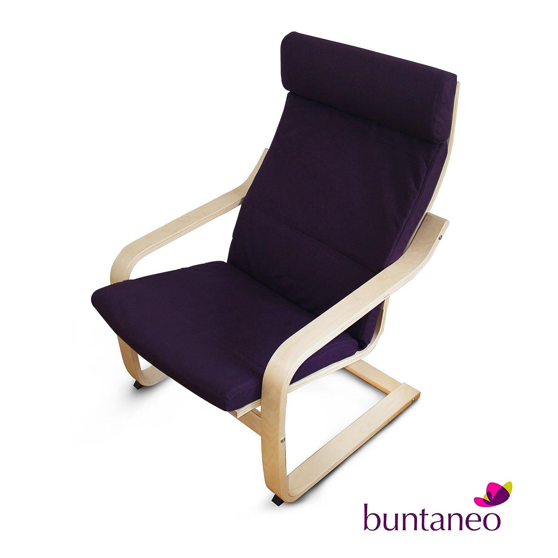 Ikea Sessel buntaneo bezug passend für ikea poäng sessel purple lila
