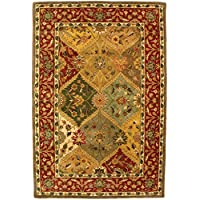 Safavieh Heritage Collection HG111A Handcrafted Traditional Oriental Multicolored Wool Area Rug (5 x 8)