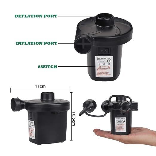 Amazon.com: iGOKU Bomba de aire eléctrica, inflador portátil ...