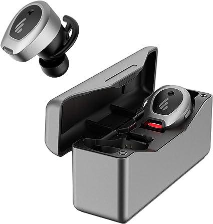 Edifier TWS NB Auriculares intrauditivos True Wireless con cancelación Activa de Ruido, con Control de Botones, Bluetooth 5.0 con Soporte aptX, 33 Horas de batería, Gris
