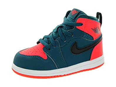 reputable site 48648 bb77a Nike Jordan Toddlers Jordan 1 Retro High BT Teal Black Infrared 23 White