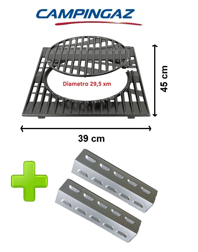 Grillrost aus Gusseisen mit Ring abnehmbar – Campingaz Culinary Modular System + 2 Lautsprecher für Brenner Australien