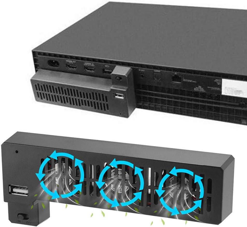 PERIWIN Ventilateur de Refroidissement USB Externe 3 Ventilateurs pour Console de Jeu Microsoft Xbox One X