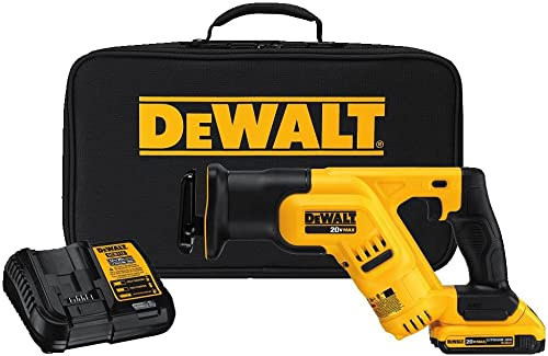 DEWALT 20V MAX Cordless Reciprocating Saw Kit, Compact, 2-Amp Hour DCS387D1