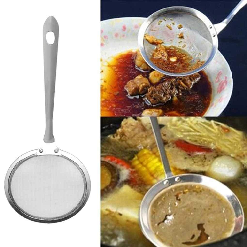 Carry stone Super Starke Japanische Hot Pot Filter Suppe Skimmer L/öffel Mesh Percolator Sieb Fett /Öl Skim Fett Fett Schaum