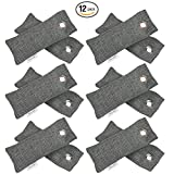 Brilliant Evolution BRRC202 Natural Bamboo Charcoal Air Purifier and Shoe Deodorizer Bags, Odor Eliminator, Air Freshener, 12 Pack (Six Packs of Two Bamboo Charcoal Bags)