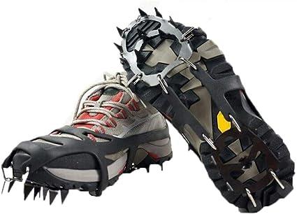 Crampones para Zapatos De 18 Dientes Empuñaduras De Hielo ...