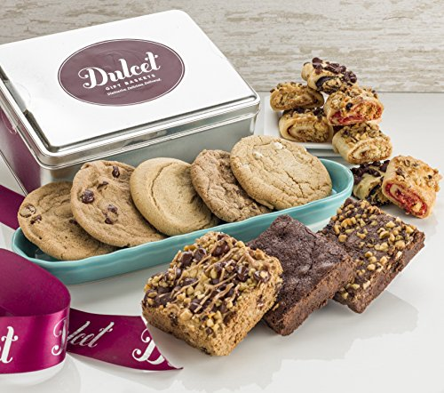 Dulcet Gift Basket – prime delivery mother day Gift-Includes a Variety of Individually Wrapped Pastries in an Elegant Gift Tin. Unique Gift Idea. The prime basket. -