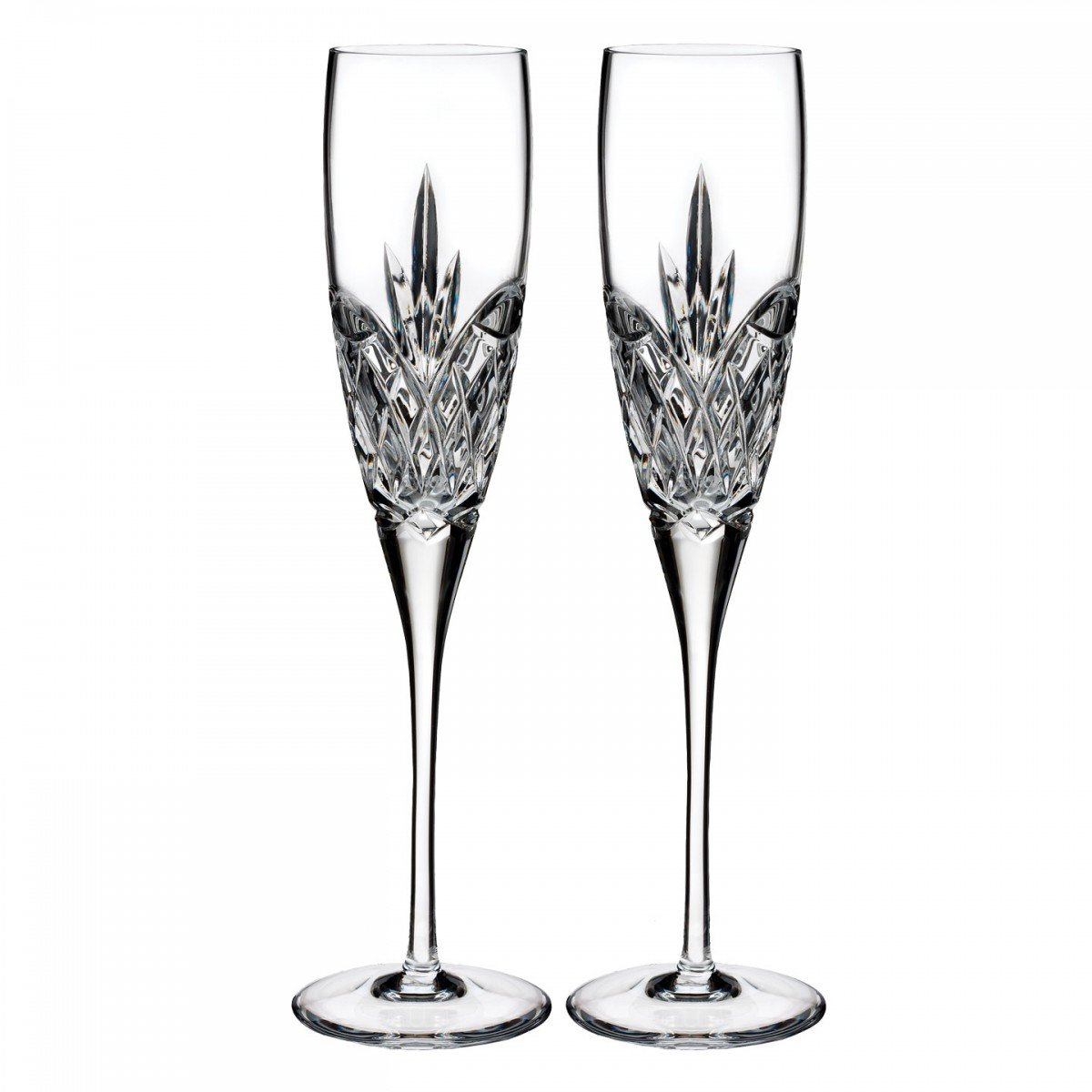 Amazon.com | Waterford Forever Set of 2 Champagne Flutes: Champagne ...