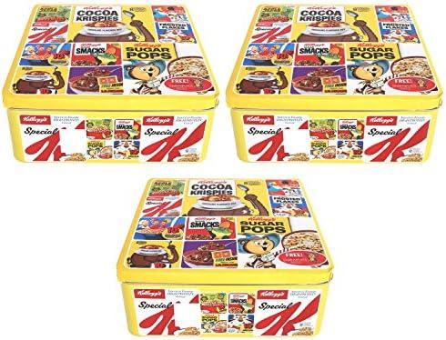 Kelloggs – Caja metálica (amarillo lata caja de almacenamiento ...